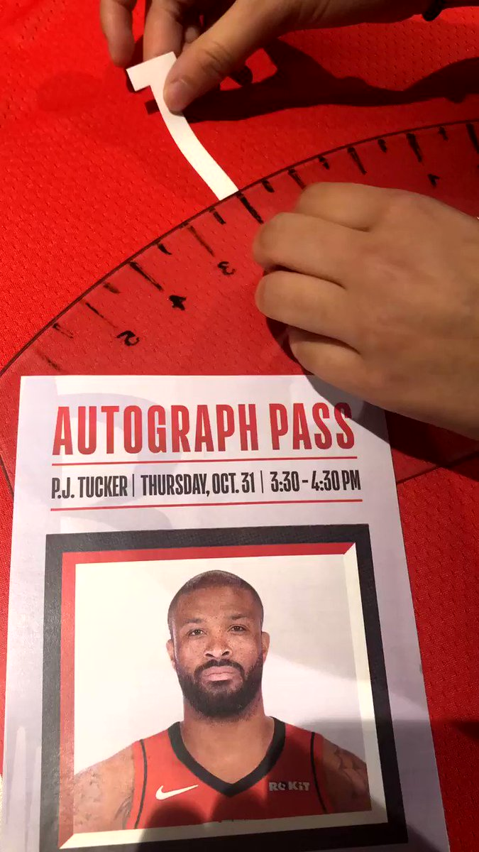 Grab your autograph pass and meet P.J. Tucker TODAY 3:30-4:40pm @NBAStore NYC!