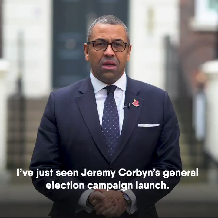"""""""I've just seen Jeremy Corbyn's general election campaign launch."""" @JamesCleverly exposes the flaws in Labour's plans."""