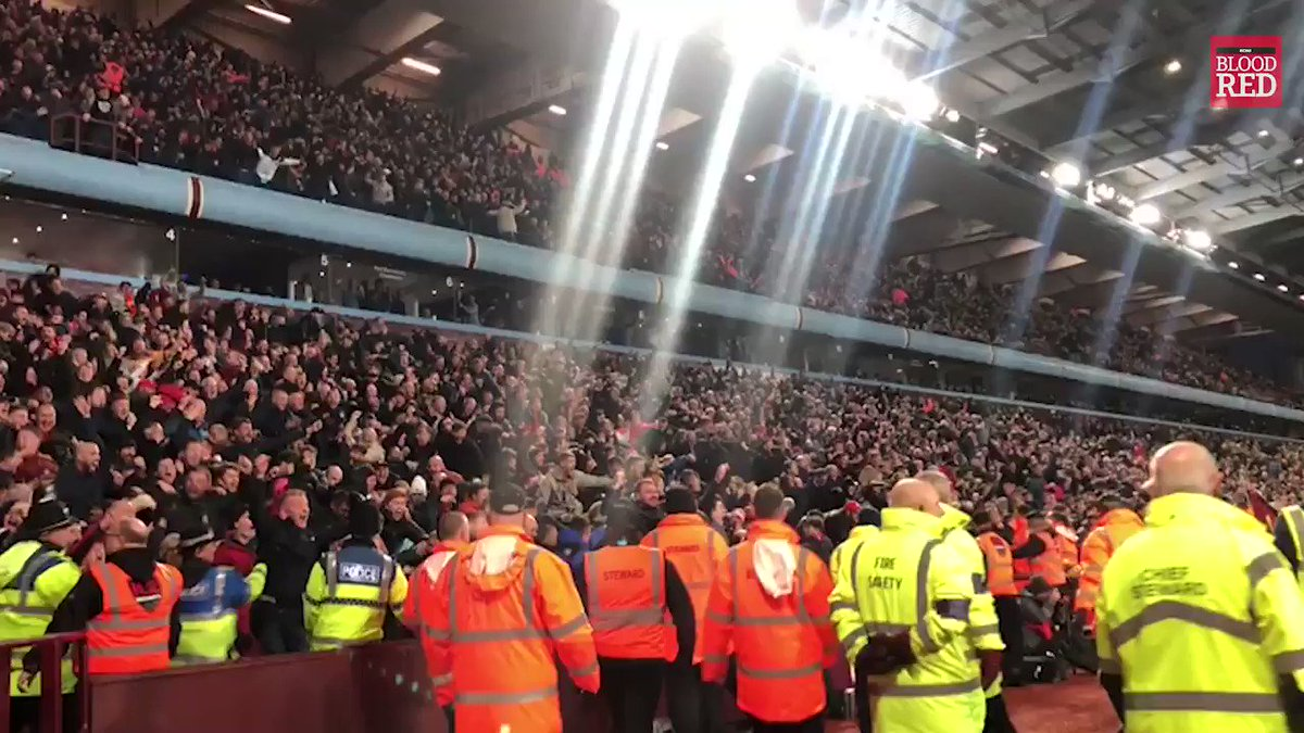 Pure limbs in the away end when Mane scored that 94th winner against Aston Villa earlier this season 🙌 #LFC
