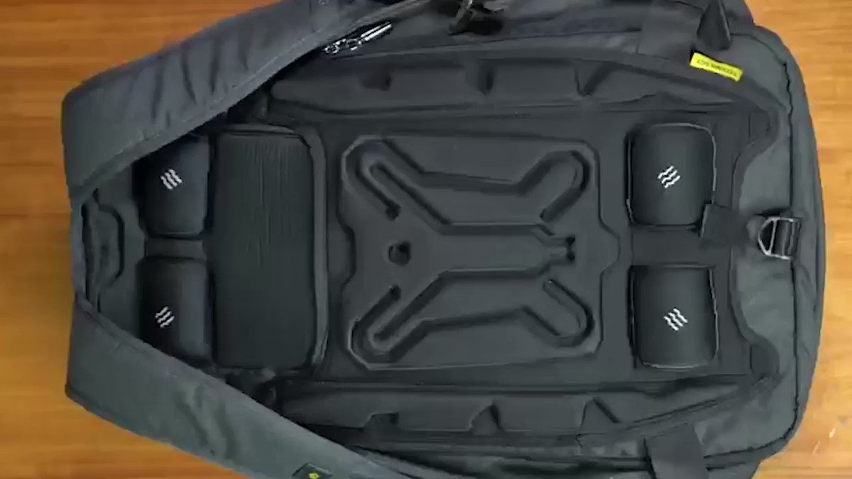 Image for the Tweet beginning: This backpack massages your back