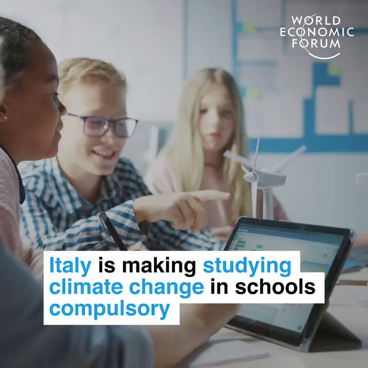 In todays lesson: how to save the world. 📕 Read more: wef.ch/2Cljs3K