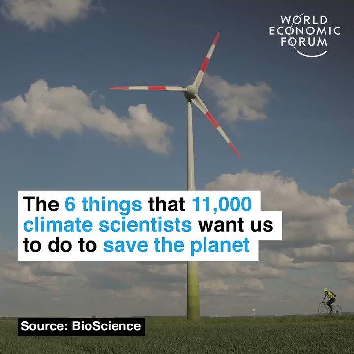Six easy steps to save our planet, endorsed by 11,000 scientists. #ClimateChangeIsReal #ClimateChange #ClimateAction #ClimateEmergency @GretaThunberg @AdamRogers2030 @SDGS4GOOD @HansLak @samiranghosh @helene_wpli @TheRudinGroup @avrohomg @IanKnowlson