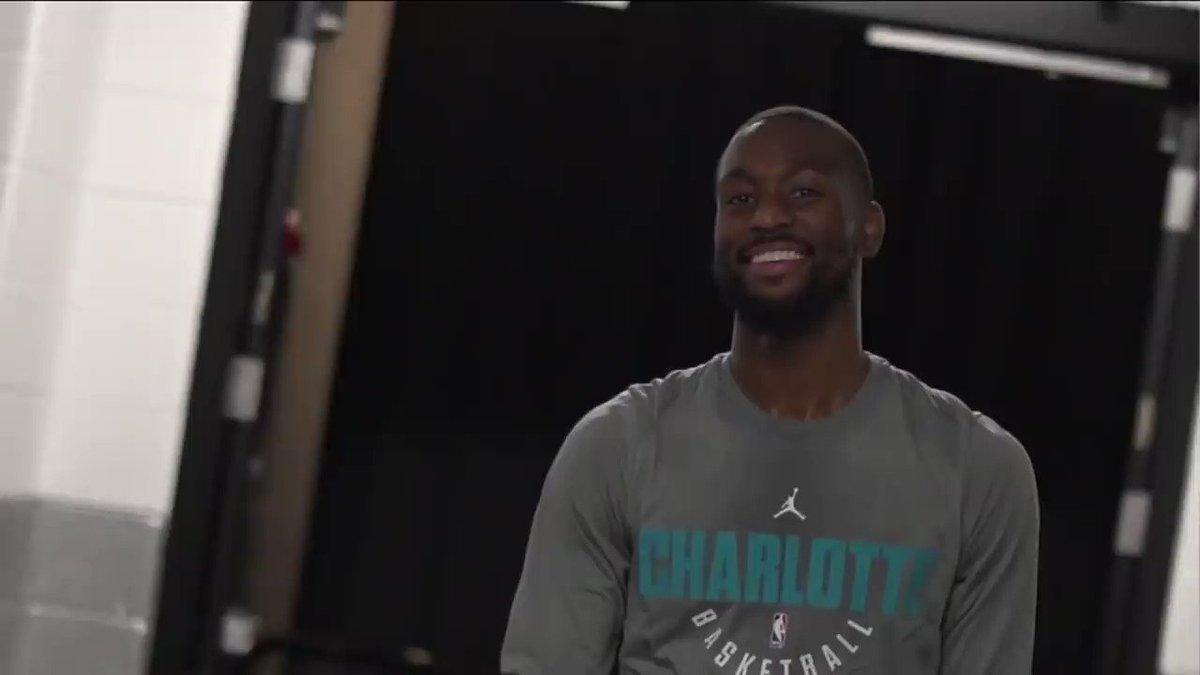 The @Hornets welcomed @KembaWalker back to Charlotte Thursday night!