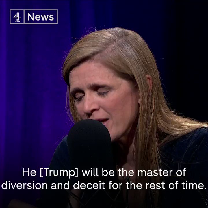 """""""Once Donald Trump and Trump-ism have happened once, there is a risk that it can happen again."""" Samantha Power, the former US Ambassador to the UN, says it's going to be a challenge for America to build up trust with other countries again."""