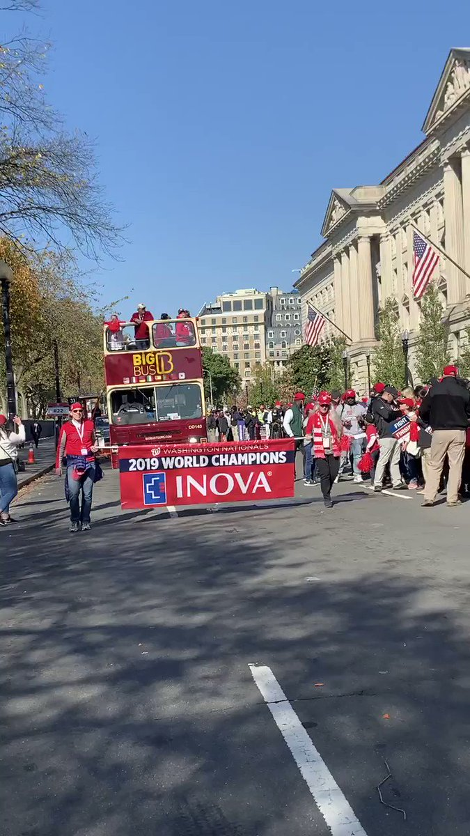 *Never* underestimate the ♥️ of a champion. Last week, 4 @InovaHealth pediatric heart patients and their families got a VIP experience and were *in* our #WorldSeries championship parade. #CHAMPS // #BiggerThanBaseball