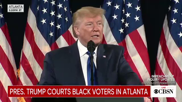 WATCH: Pres. Trump speaks at the Black Voices for Trump coalition rollout in Georgia https://cbsn.ws/2NyixDL pic.twitter.com/MPXKrs8pg2