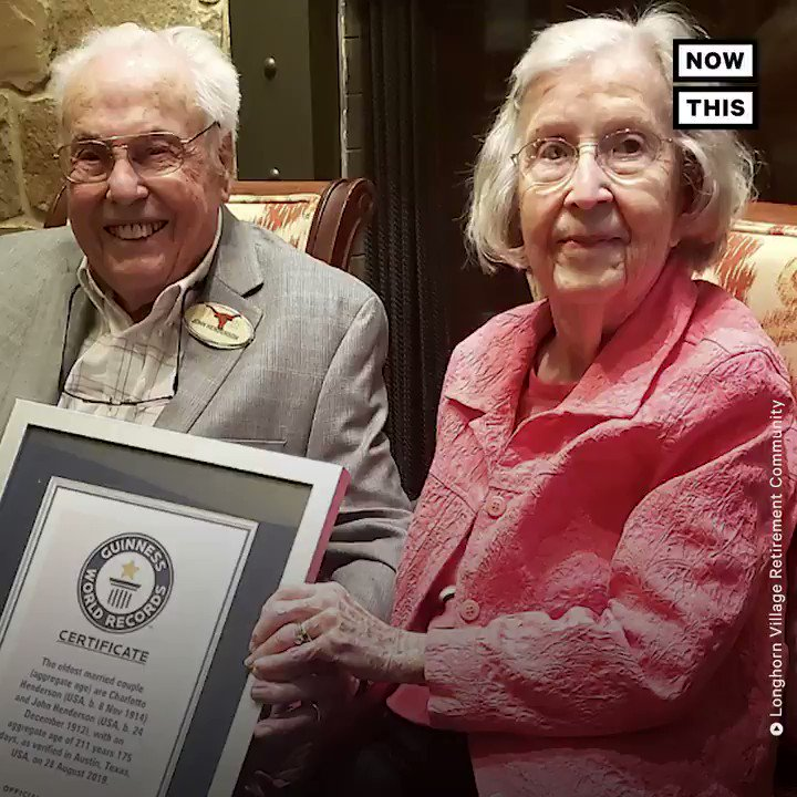 Meet Mr. & Mrs. Henderson — the oldest living married couple in the world 💕