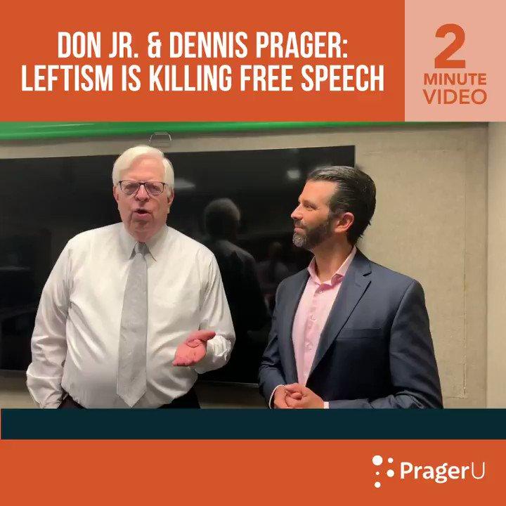 Image for the Tweet beginning: .@DonaldJTrumpJr stopped by Dennis Prager's