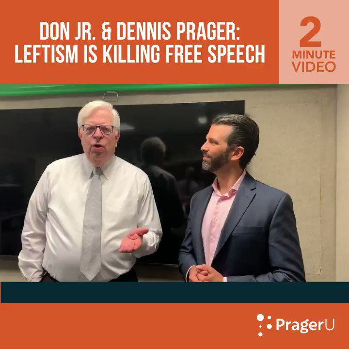 Image for the Tweet beginning: WATCH: @DonaldJTrumpJr and @DennisPrager discuss