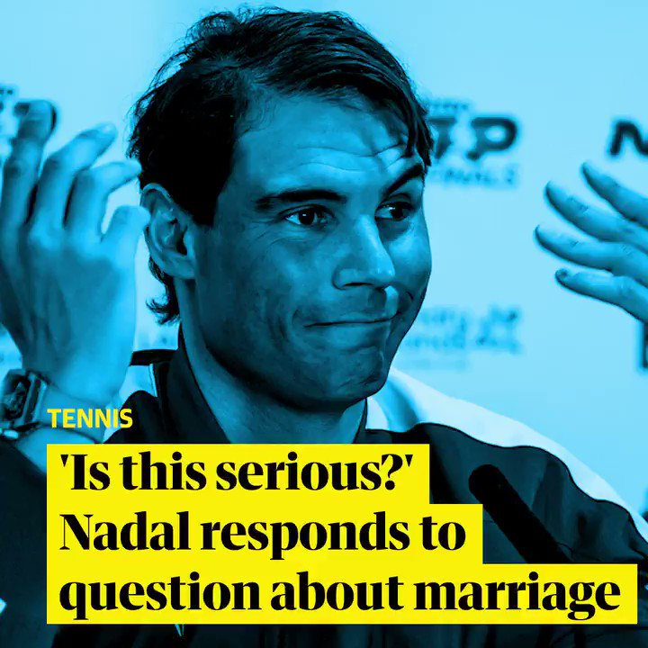 'Is this serious?' Rafael Nadal responds to question about his marriage during post-match ATP Finals interview