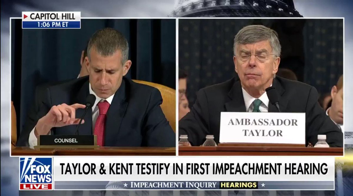 Mr. Kent affirmed Ukraine has a long-standing history of corruption.   And President Trump was deeply skeptical of this corruption.  The President has a duty to Americans to make sure their taxpayer dollars are being spent responsibly.