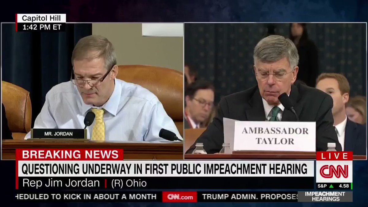 """.@Jim_Jordan: """"Weve got six people having four conversations in one sentence and you told me this is where you got your clear understanding."""""""