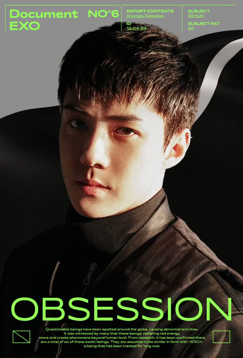 EXO 엑소 Motion Poster #SEHUN 🎧 2019.11.27. 6PM (KST) 👉 exo.smtown.com ✔ The first result comes out at 6 am(KST), and it will be updated every 6 hours. #EXO #엑소 #weareoneEXO #EXOonearewe @exoonearewe #OBSESSION #EXODEUX