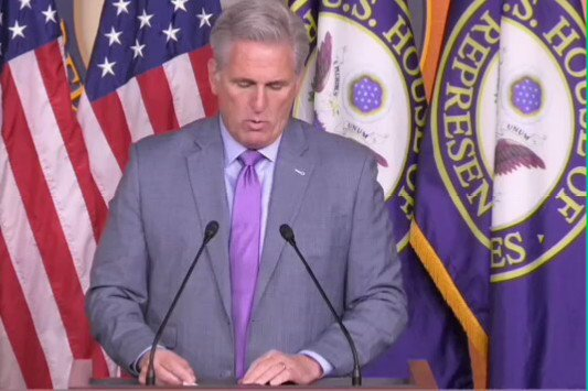 """.@GOPLeader: """"Those witnesses did rely on their expertise though to underscore how much safer Ukraine is under this administration with President Trump."""""""
