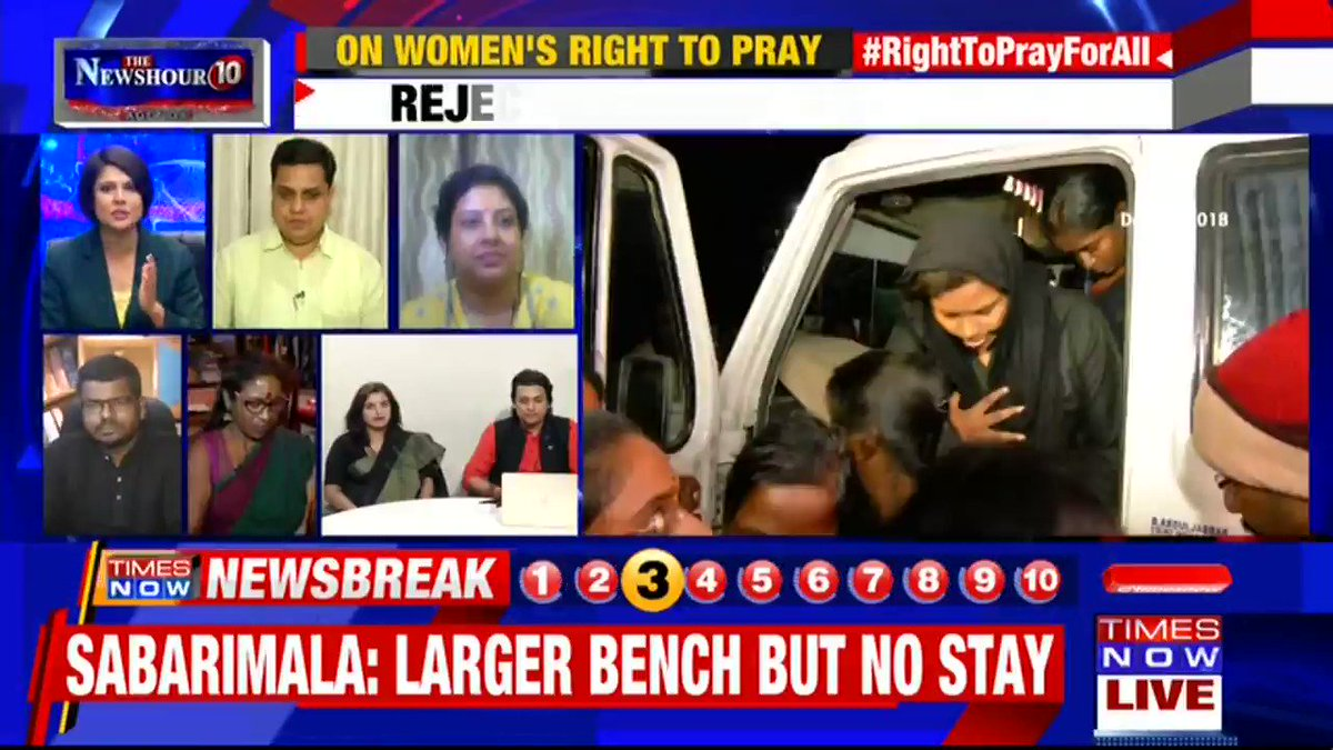 I do believe that the Supreme Court has effectively chosen to revisit & reinterpret the judgment: @jsaideepak, Advocate, Supreme Court & Arguing Counsel for Pandalam Royal Family , People for Dharna & Chetna tells Padmaja Joshi on @thenewshour AGENDA. | #RightToPrayForAll