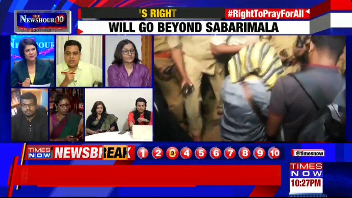 We had a strong stand on this judgment: AN Shamsheer, MLA & Spokesperson, CPI(M) tells Padmaja Joshi on @thenewshour AGENDA. | #RightToPrayForAll