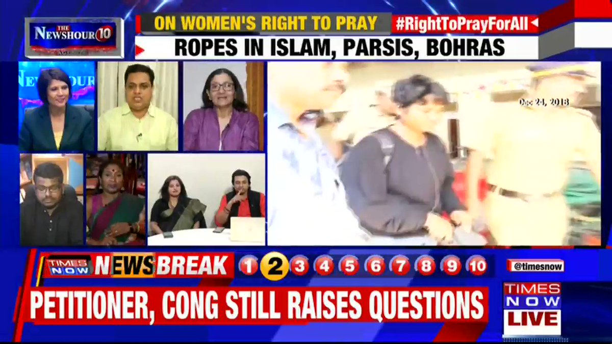 This is not about religion. This is about men of religion getting to decide on behalf of 50% of humanity: Zakia Soman, Women Rights Activist tells Padmaja Joshi on @thenewshour AGENDA. | #RightToPrayForAll