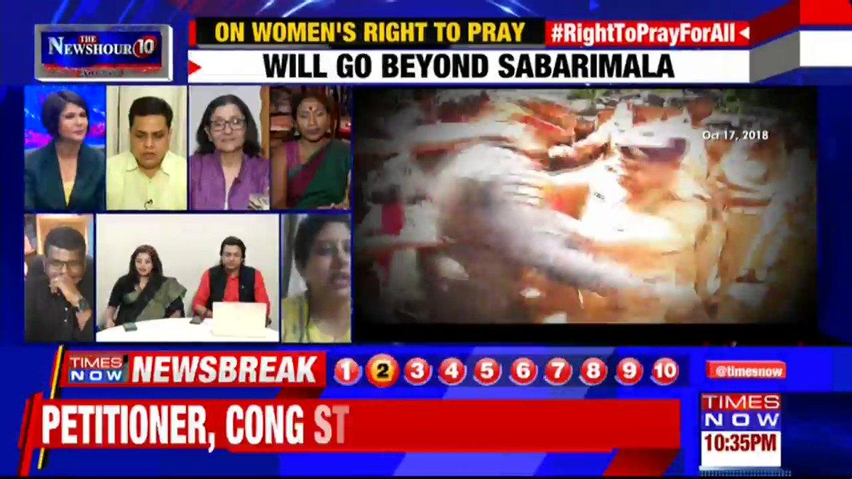 Different religions follow different rules & religion: Shilpa Nair, Petitioner tells Padmaja Joshi on @thenewshour AGENDA. | #RightToPrayForAll