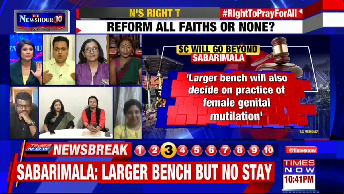 """The Supreme Court has decided that the previous verdict needs to be reviewed: Padma Pillai (@lotophagus), Spokesperson, """"Ready to Wait"""" Campaign tells Padmaja Joshi on @thenewshour AGENDA. 