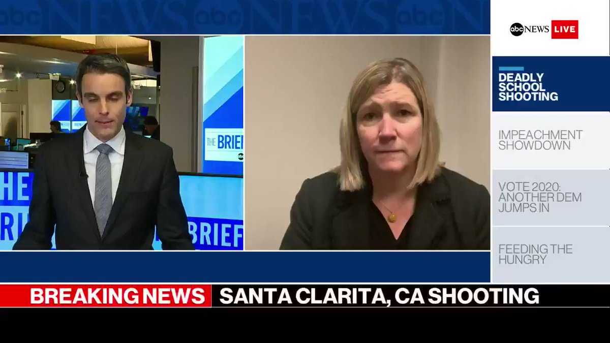 """""""I think the priority for the people of Santa Clarita is really to hold each other together today,"""" Dayton Mayor @nanwhaley tells ABC News after the California school shooting https://abcn.ws/2qh8j1F"""