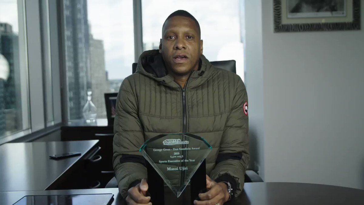 Congrats to our leader, Masai, on being named the 2019 @SportsMediaCA Executive of the Year. #WeTheNorth