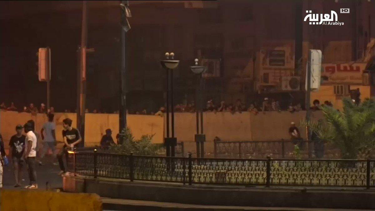 تأهب لقوات الأمن في #ساحة_الخلاني بـ #بغداد#تظاهرات_العراق