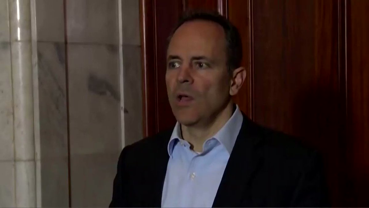Image for the Tweet beginning: Republican Bevin concedes defeat in