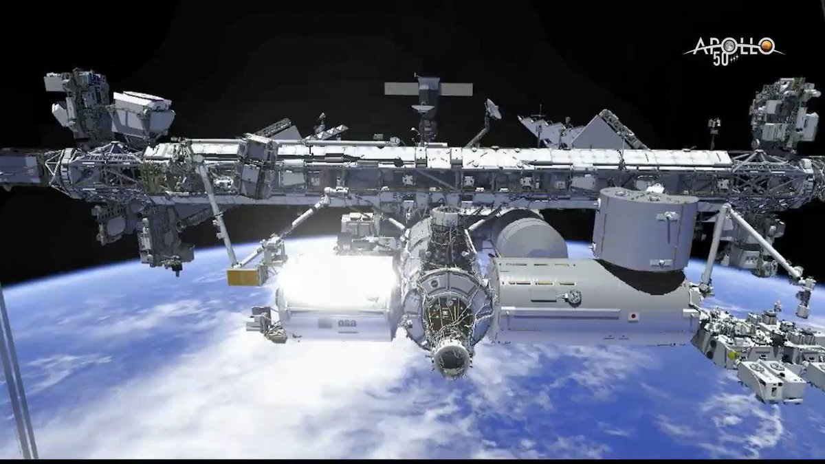 Just tuning in for today's spacewalk? This animation shows the work that's being completed outside of the @Space_Station to repair the Alpha Magnetic Spectrometer, a cosmic ray detector. Watch @AstroDrewMorgan and @Astro_Luca at work: twitter.com/i/broadcasts/1…