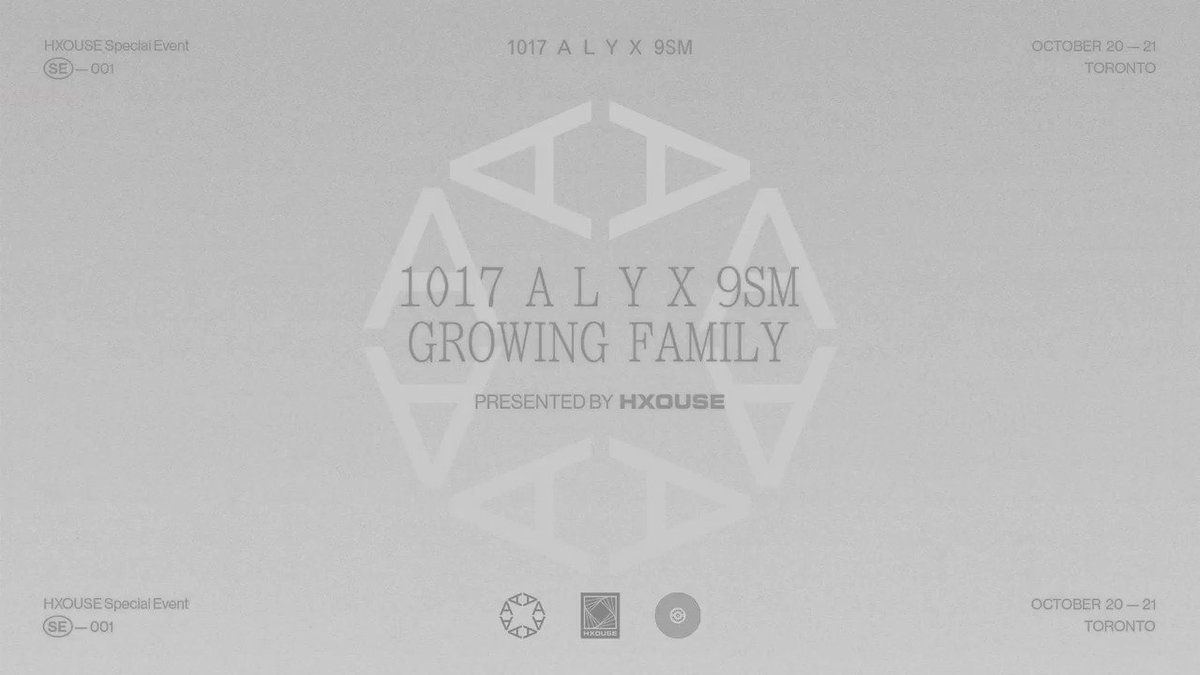 GROWING FAMILY In Partnership With @alyxstudio