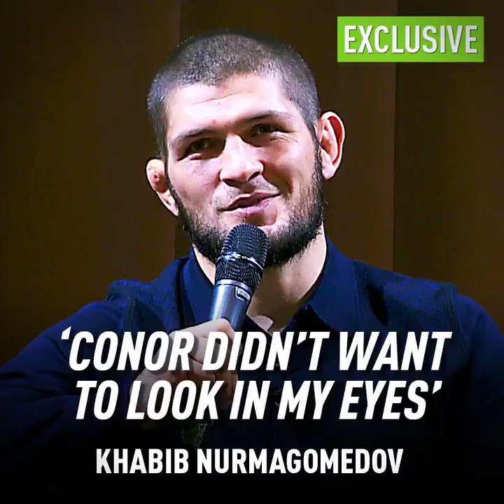 Khabib talks about kids about fighting, life and cucumbers in a Q&A with schoolkids before #UFCMoscow 🥒🇷🇺🦅  Watch the full video here ➡️ https://www.youtube.com/watch?v=BAFbKc8MZHM&feature=youtu.be… 📹