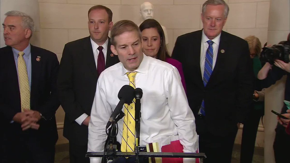 """Rep. Jim Jordan: """"Second hearing, third witness. Third witness who has no first-hand knowledge of the subject that is supposed to be the focus of this entire inquiry."""""""