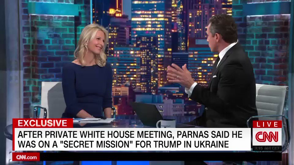 Exclusive: After a private White House meeting, Giuliani associate Lev Parnas said he was on a secret mission for Trump, sources say. @VickyPJWard reports cnn.it/377c0HM
