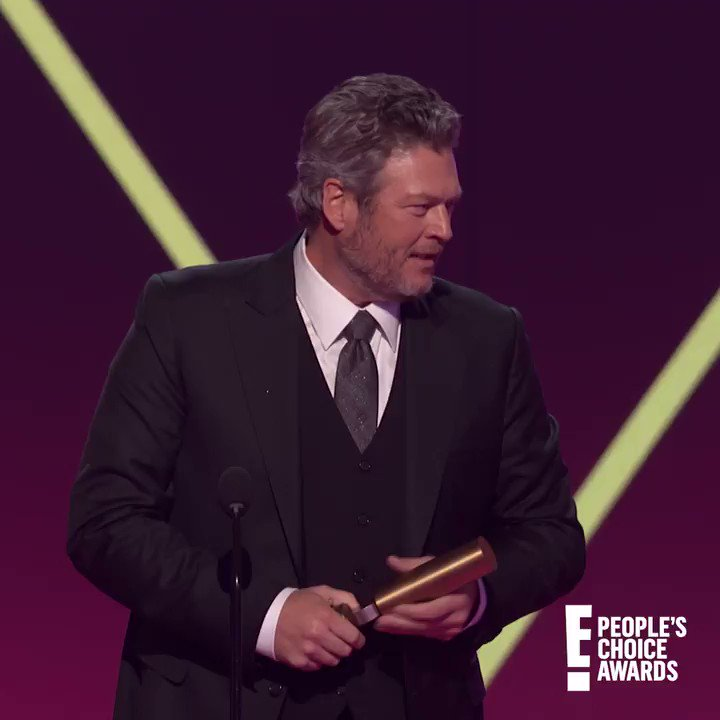 I would give anything to watch @Zendaya  make fun of @blakeshelton . Congrats on your win for #TheCountryArtist  of 2019. #PCAs