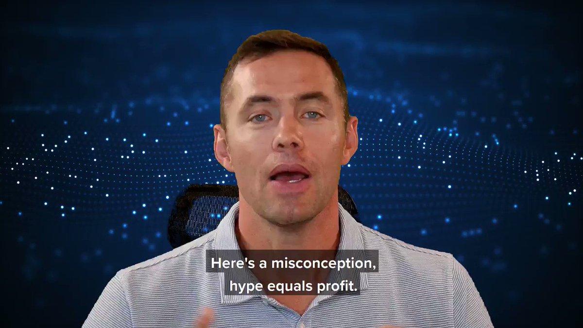 Image for the Tweet beginning: Hype ≠ Profit  @BenSturgill explains: 🏆 Just