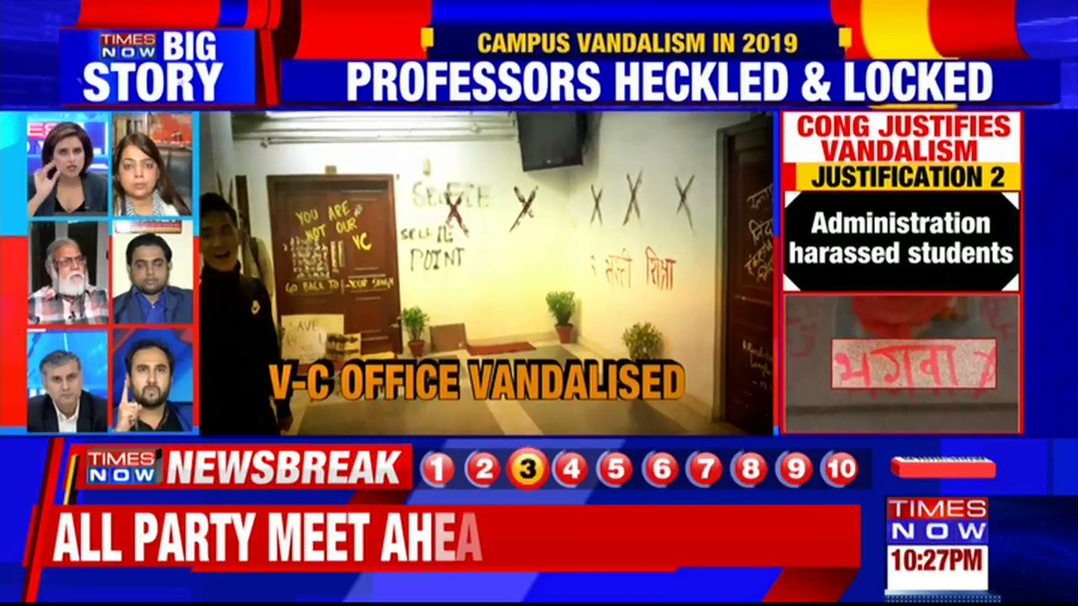 Congress has constantly supported students who indulged in criminal & anti-national activities: @abhimishrabjp, Political Analyst tells TIMES NOW over @INCIndia justifying vandalism in JNU.