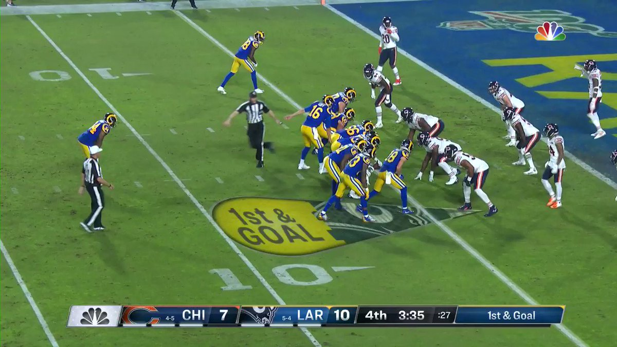 Image for the Tweet beginning: Malcolm Brown scores! @RamsNFL extend