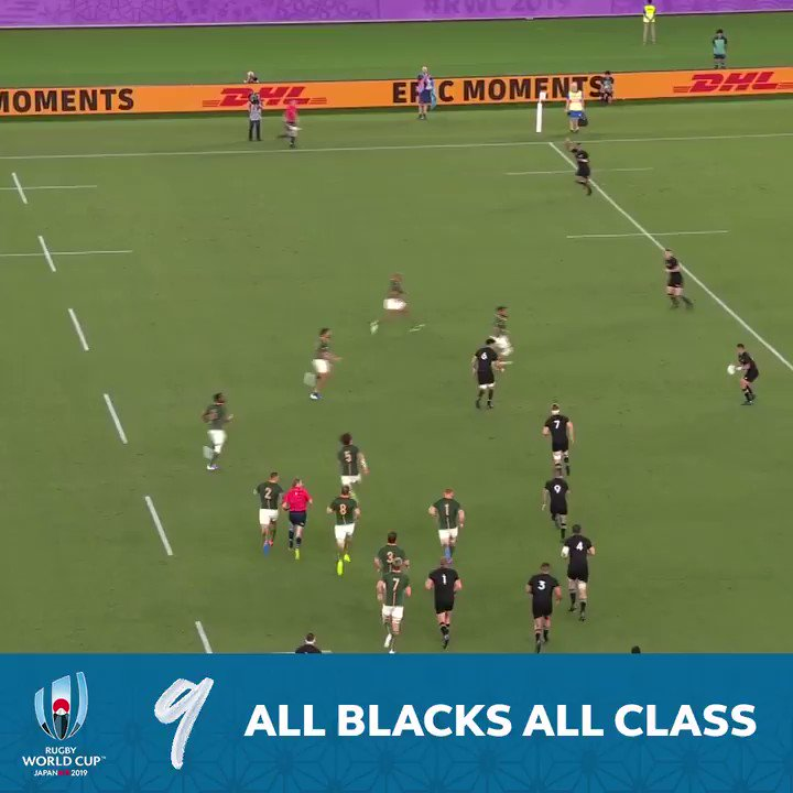 The @AllBlacks at their deadly best 💫 Sensational skills from start to finish as they set Super Saturday alight with this try at #RWC2019