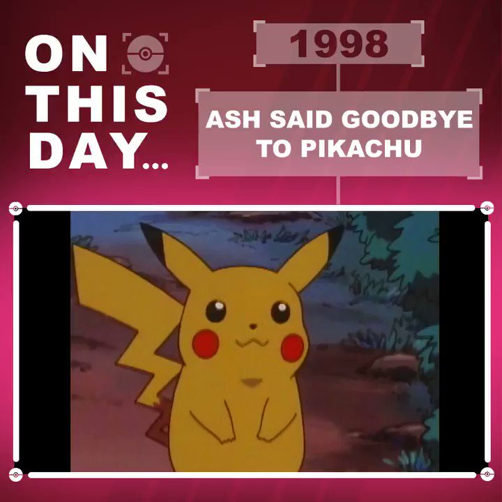 On this day in 1998, Ash said goodbye to Pikachu. 😢😢 Dont worry, they werent apart for long! Where were you when this happened, Trainers?