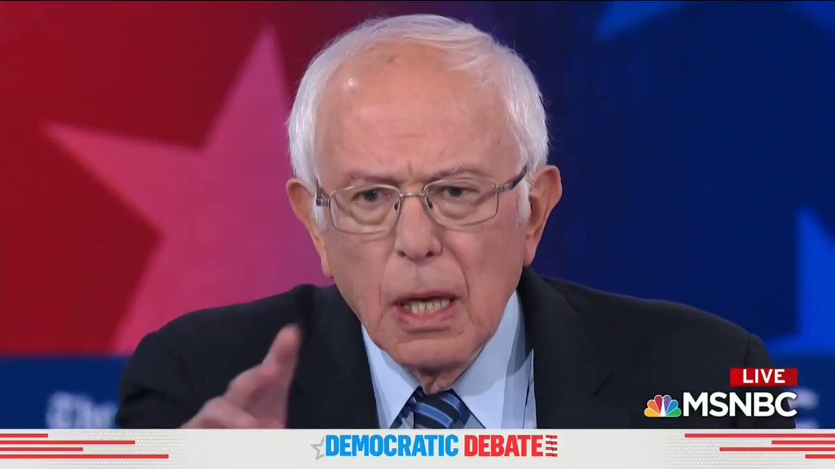 """Your question is 'what are we gonna do in decades?' - we don't have decades'"" - @BernieSanders gives the most important answer you'll hear this election cycle. #GreenNewDeal #DemDebate"