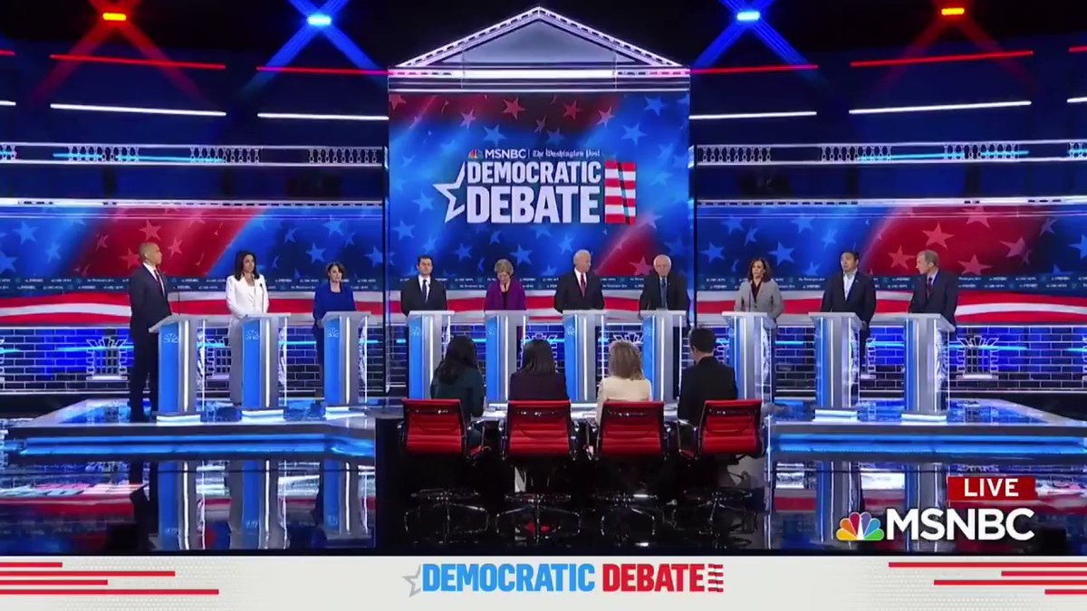 I am the son of an immigrant. I will always stand with immigrants.  In college, I was arrested fighting segregation. I will always stand against racism, bigotry and hate.  Today, we are building a movement that will defeat Trump and transform this country. #DemDebate