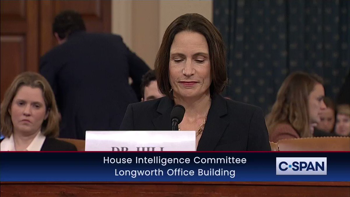 Image for the Tweet beginning: WATCH: Fiona Hill complete opening