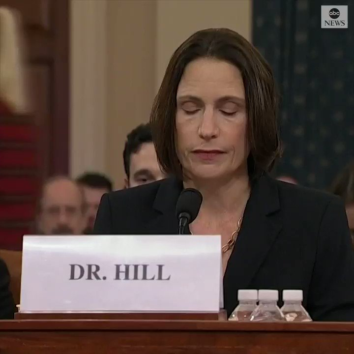 """Ex-NSC Russia expert Fiona Hill warned of continued Russian interference at the House's impeachment inquiry: """"We are running out of time to stop them.""""  Watch key moments from her opening statement:"""