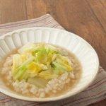 食べ過ぎたときのおすすめレシピ!レンジで5分でできる白菜雑炊!