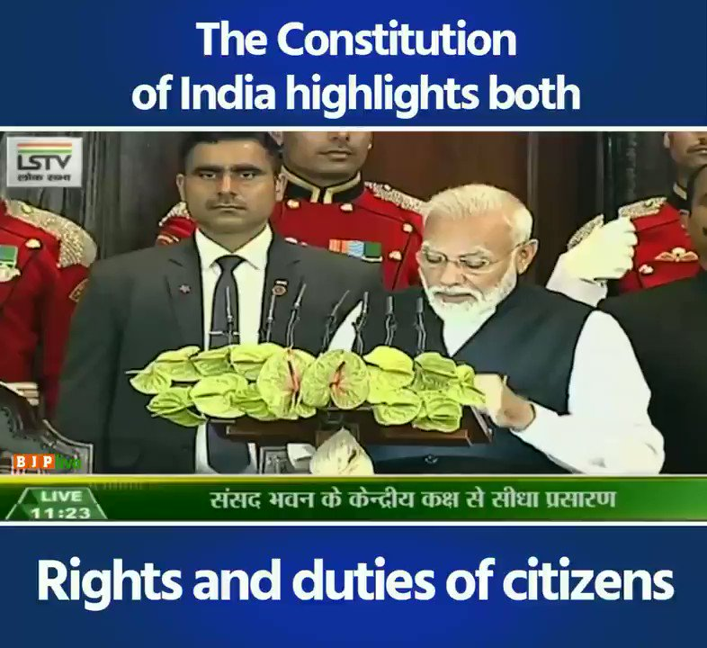 Our Constitution tells us about our rights & also about duties as citizens.   Are we as serious about our duties as citizens as expected by our citizens, our Constitution and our people?   We must establish by convention what isn't written in the Constitution: PM #ConstitutionDay