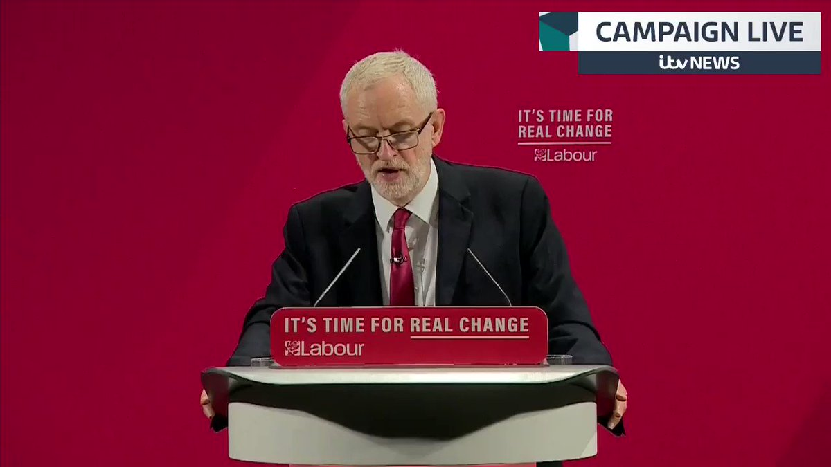 There is no place, whatsoever, for anti-Semitism in any shape or form @jeremycorbyn appears to address a warning by the @chiefrabbi about anti-Semitism within the Labour Party itv.com/news/2019-11-2…