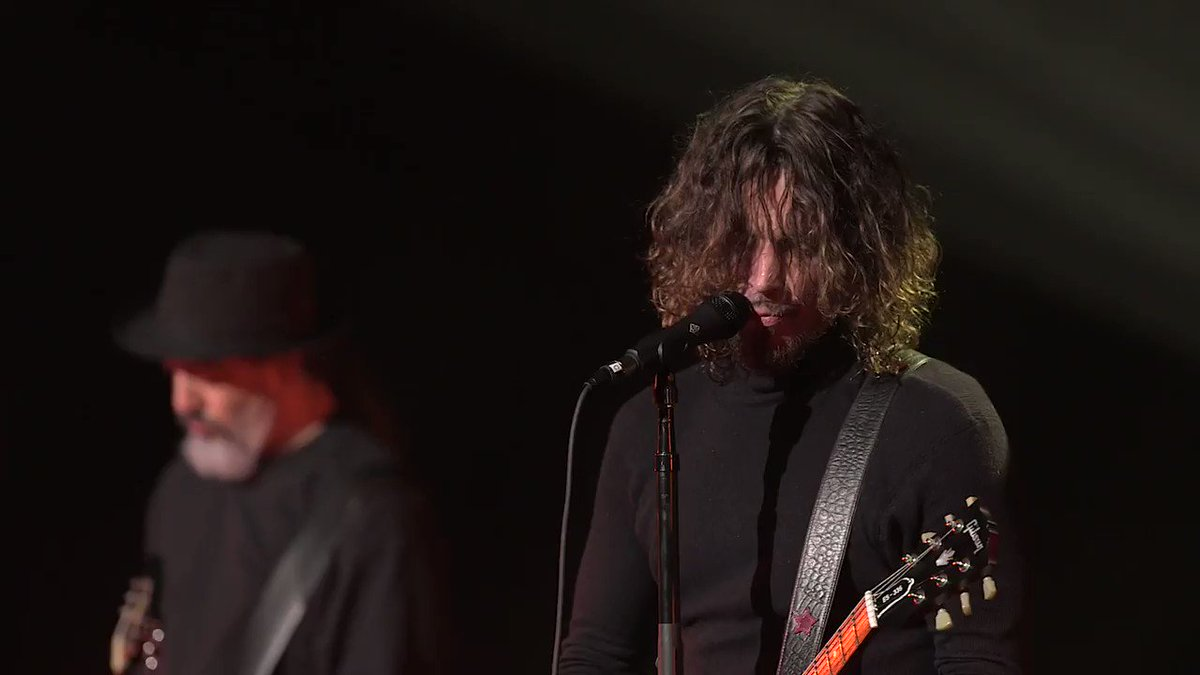 """Watch """"Rusty Cage"""" Live from @TheArtistsDen. Want to see the full show? Watch it now at artsts.de/soundgardenad. Make sure to vote for @soundgarden to be inducted into the @rockhall: goo.gle/RHFanVote"""