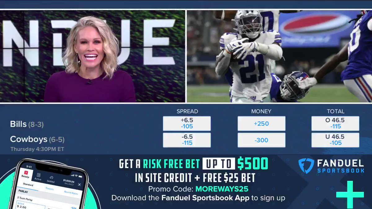"""""""The Cowboys are just 1-7 against the spread in the last eight years"""" 😳  Watch as @icecoldexacta, @mrogondino and @LisaKerney discuss the @FDSportsbook lines for Bills-Cowboys ⬇️"""