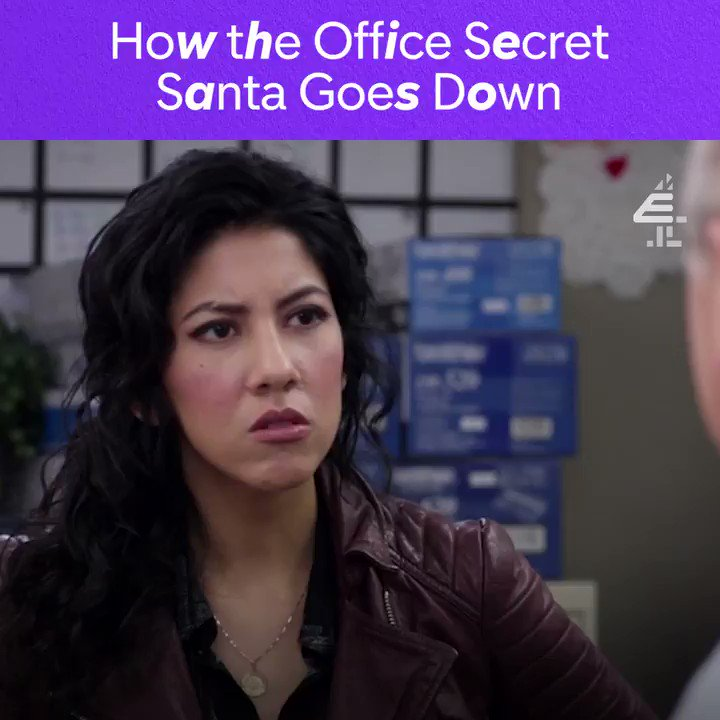 There's nothing secret about Secret Santa. #Brooklyn99