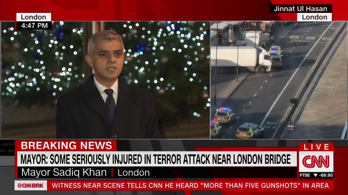 London Mayor Sadiq Khan thanked members of the public who literally ran towards danger to intervene during the London Bridge terror attack. They really are the best of us, he said. cnn.it/35Hsk0c