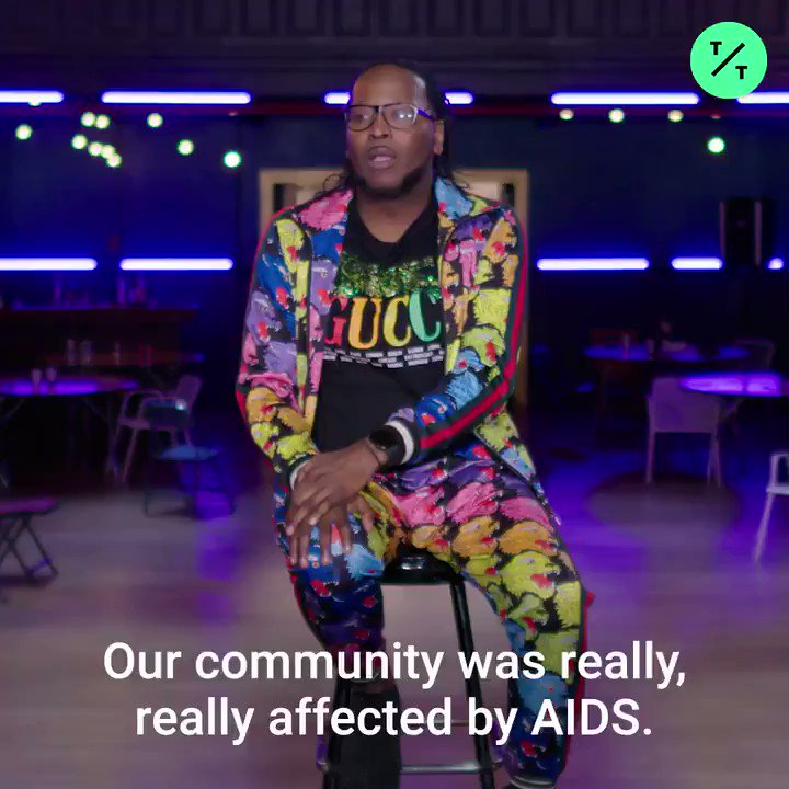 """""""Icons, legends, newbies, I mean, it didn't matter.""""From the @PoseOnFX stage, @gorgeousjack discusses the devastating toll HIV/AIDS had on the ballroom and LGBTQ+ community, and why many suffered in silence #WorldAIDSDay"""